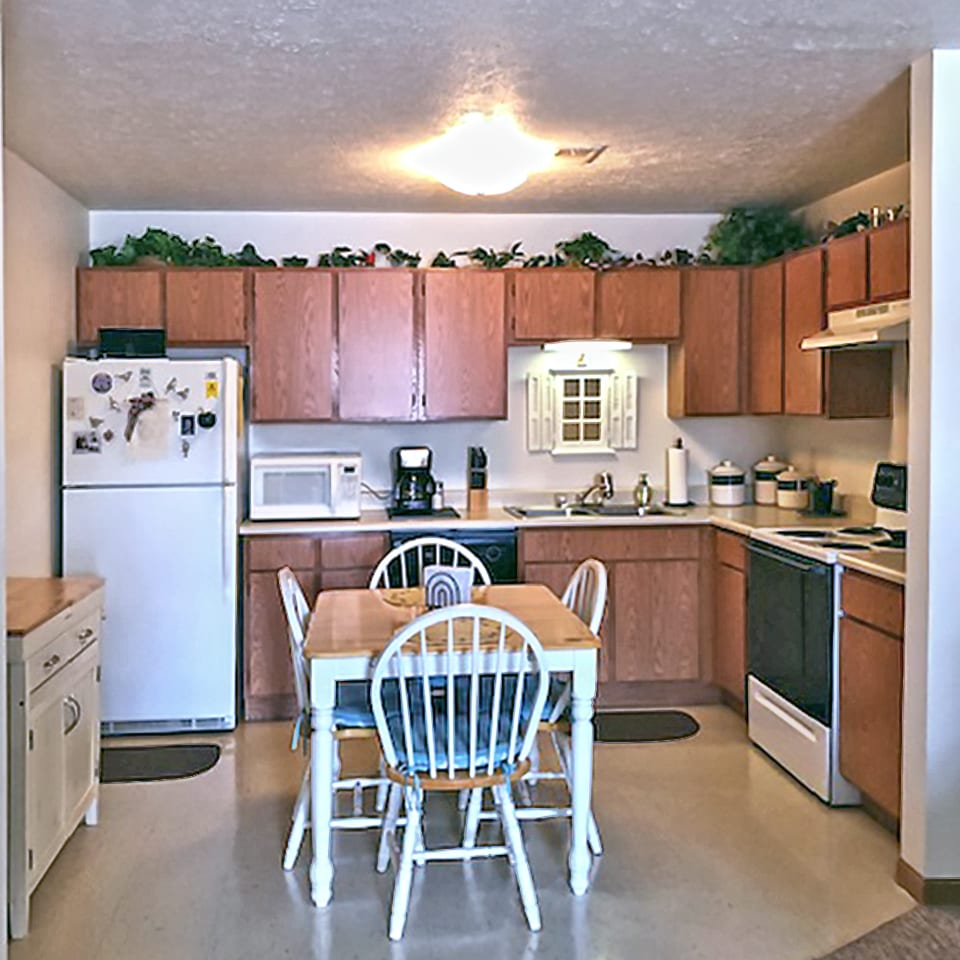 Whispering Pines kitchen of two bedroom model